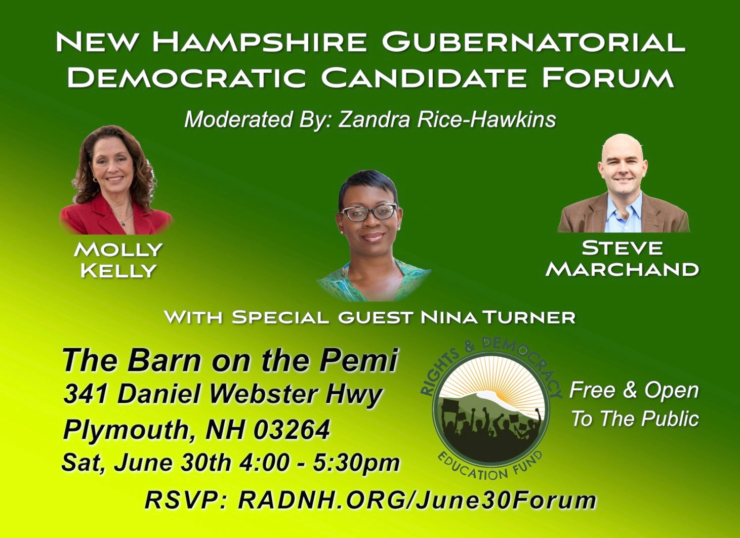 NH Gobernatorial Democratic Candidate Forum