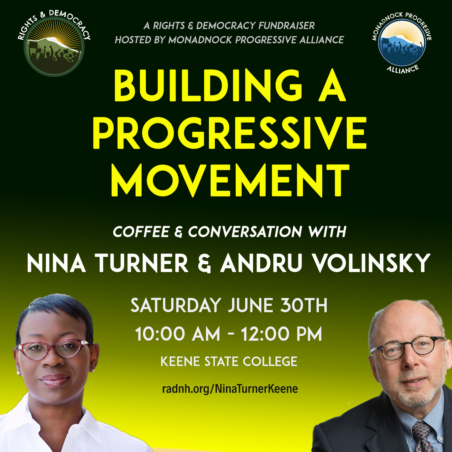 Building a Progressive Movement; Coffee & Conversation NH w Nina Turner of One Revolution