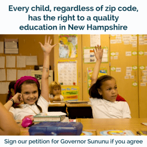 Stand up for New Hampshire's public schools that are increasingly under attack!